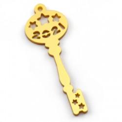 """Plexi Acrylic Lucky Pendant Key """"2021"""" 29x80mm"""