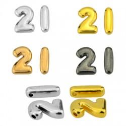 """Zamak Lucky Slider """"21"""" Set 9x13mm & 4x13mm (Ø1.5mm)"""