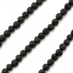 Perlina di Pietra Lavica 4mm (~95pz/filo)