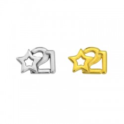 """Zamak Lucky Connector Star """"21"""" 13x9mm"""