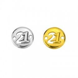 """Zamak Lucky Connector Round """"21""""14mm (Ø1.8mm)"""