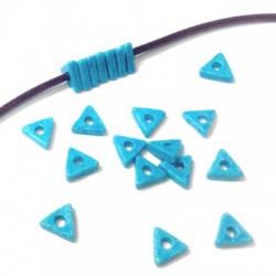 Κεραμική Χάντρα Τριγωνική Ροδέλα 6x2mm (Ø2.5mm)