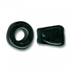 Κεραμική Χάντρα Ροδέλα Ασύμμετρη με Σμάλτο 25mm (Ø11mm)