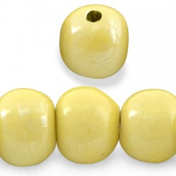 Enamel-Glazed One Color Ceramic Bead 31mm (Ø 5mm)