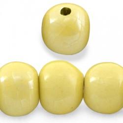 Κεραμική Χάντρα Στρογγυλή με Σμάλτο (~31mm) (Ø~5mm)