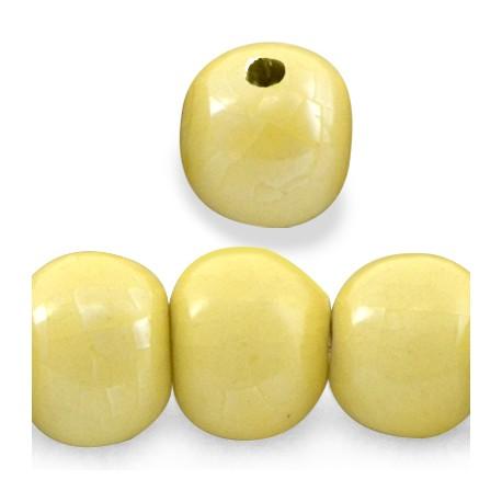 Enamel-Glazed One Color Ceramic Bead 31mm (Ø 5mm)