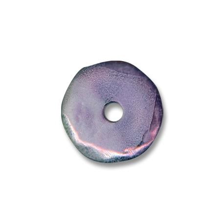 Κεραμική Χάντρα Δίσκος με Σμάλτο 33mm (Ø5mm)