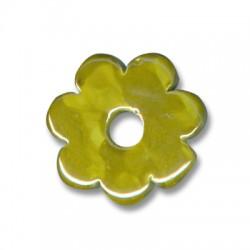 Enamel- Glazed Multi Color Ceramic Pendant Flower 32mm (Ø 7mm)