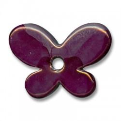 Enamel-Glazed Multi Color Ceramic Pendant Butterfly 42x16mm