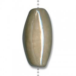 Κεραμική Χάντρα Οβάλ Περαστή με Σμάλτο 40x20mm (Ø3.5mm)