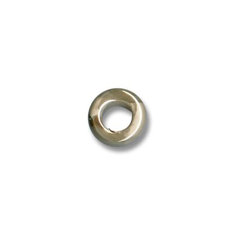 Enamel-Glazed Multi Color Ceramic Slider Tube Rondelle 15x9mm (Ø 8mm)