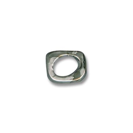 Κεραμική Χάντρα Πλακέ για Regaliz με Σμάλτο 5mm (Ø11x8mm)