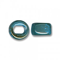 Enamel-Glazed Multi Color Ceramic Slider Round for Regaliz Leather 10mm (Ø 11x8mm)