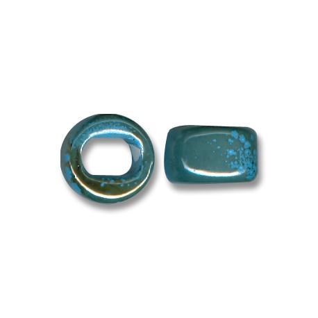 Enamel-Glazed Multi Color Ceramic Slider Round for Regaliz Leather 10mm (Ø 11x8mm)