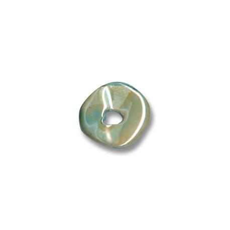 Enamel-Glazed Multi Color Ceramic Slider Irregular Disc 16mm (Ø 4mm)