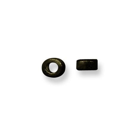 Enamel-Glazed Multi Color Ceramic Slider Rondelle Tube 5mm (Ø 5.5mm)