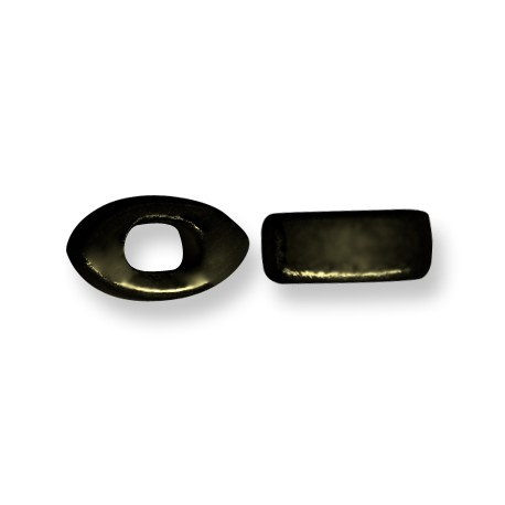 Enamel-Glazed Multi Color Ceramic Slider Eye for Regaliz Leather 10mm (Ø 11x8mm)