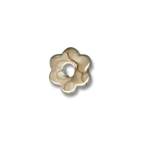 Passante Ciondolo Fiore in Ceramica Smaltata 15mm (Ø 5mm)
