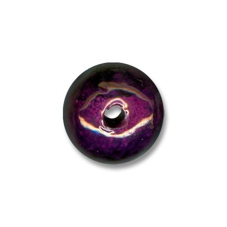 Perle Céramique Émaillée 26mm (Ø 5mm)