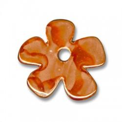 Κεραμική Χάντρα Λουλούδι με Σμάλτο 35mm (Ø5mm)