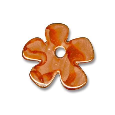 Enamel-Glazed Multi Color Ceramic Pendant Flower 35mm (Ø 5mm)
