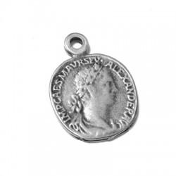 Zamak Charm Coin Alexander 15mm
