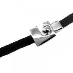 Fermoir Crochet en Métal/Zamak 26x15mm (Ø5,2x2,2mm)