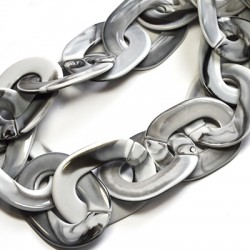 Acrylic Chain Link Oval Ring 40x54mm