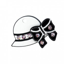 Plexi Αcrylic Pendant Strass Hat 24mm