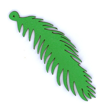 Leather Feather 30x90mm