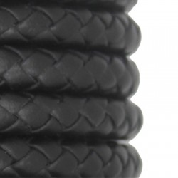 PU Leather Braided Cord Round 10mm
