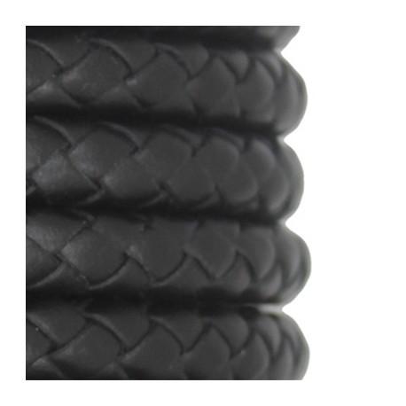 Cuir Polyester Rond Tressé 10mm
