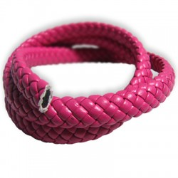 PU Leather Cord Braided Oval 5x9mm