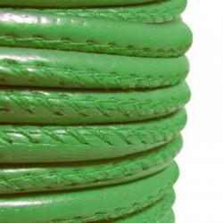 Συνθετικό Δερμάτινο Κορδόνι Στρογγυλό με Ραφή 7mm