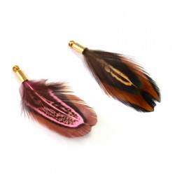 Feather Pheasant with Cap (~40mm)