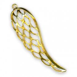 Brass Cast Pendant Angel Wing 21.5x70mm
