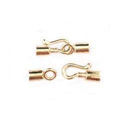 Brass Casting Hook Clasp 22x4mm (Ø 2.9mm)