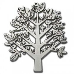 Μεταλλικό Ζάμακ Χυτό Μοτίφ Δέντρο 60x70mm