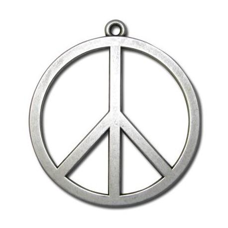 Μεταλλικό Ζάμακ Χυτό Μοτίφ Σήμα της Ειρήνης 58mm