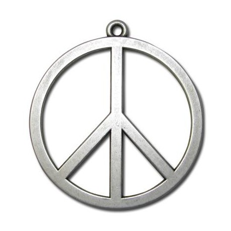 Zamak Pendant Peace Sign 58mm