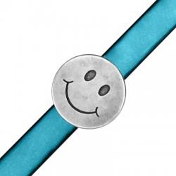 Zamak Slider Round Smiling Face 18mm (Ø 10.2x2.2mm)