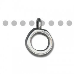 Anello Porta Ciondolo in Zama 20x28mm (Ø 12mm)