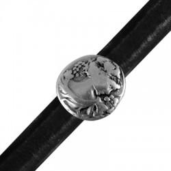 Zamak Slider Round Cameo for Regaliz Leather 19mm (Ø 10x7mm)