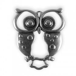 Zamak Pendant Owl 54x44mm