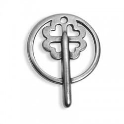 Μεταλλικό Ζάμακ Χυτό Μοτίφ Κλειδί Τριφύλλι 38x29mm