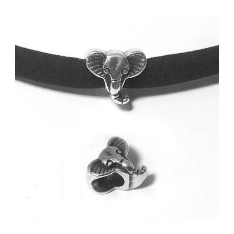 Passante in Zama Testa Elefante 10x12mm (Ø 5.2mm)