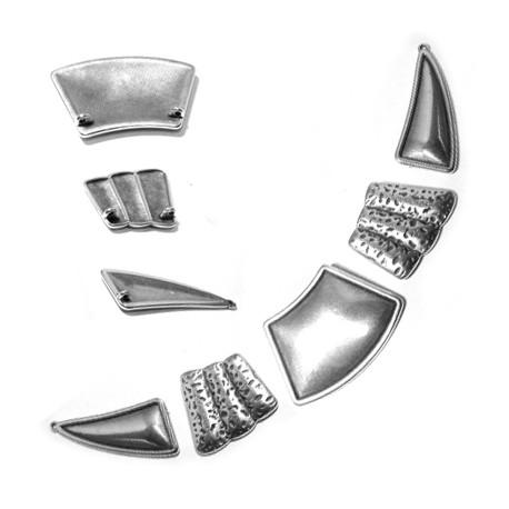 Zamak Connector Collar Necklace 48x20mm-33x29mm-46x31mm (5 pieces)