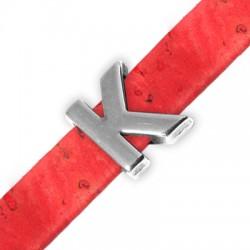 Μεταλλικό Ζάμακ Χυτό Περαστό Γράμμα 'K' 15mm (Ø10.5x2.4mm)