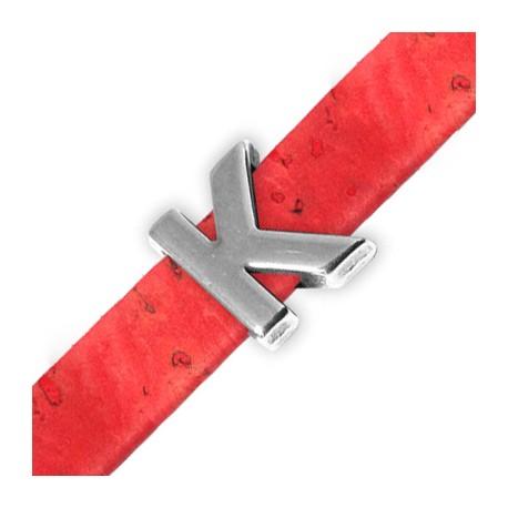 Passante in Zama Lettera 'K' 15mm (Ø 10.5x2.4mm)