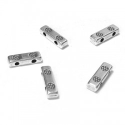 Perle Rondelle en métal/zamac 3x9.8mm (Ø 1.1mm)